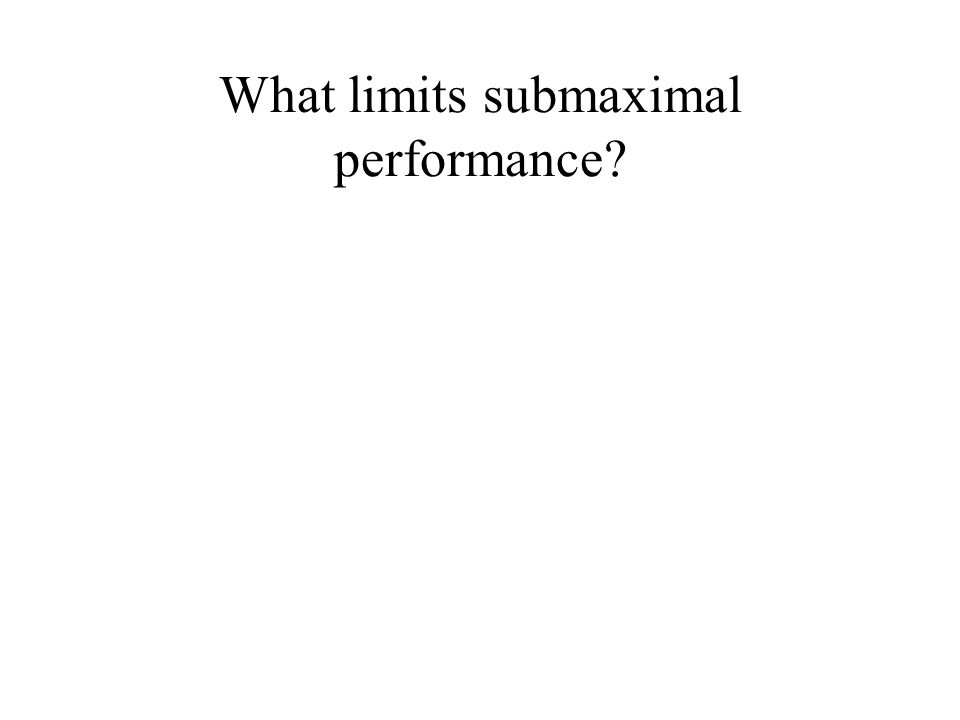 What limits submaximal performance?
