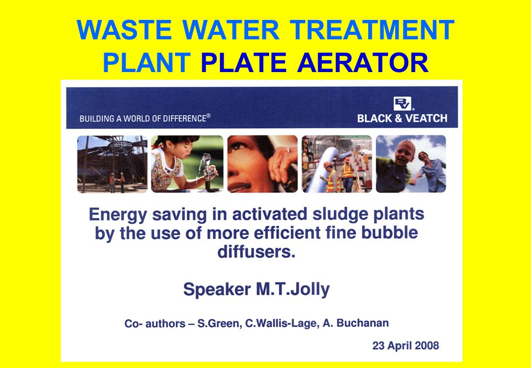 WASTE WATER TREATMENT PLANT PLATE AERATOR