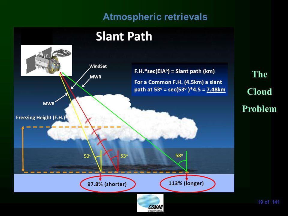 19 of 141 Atmospheric retrievals The Cloud Problem
