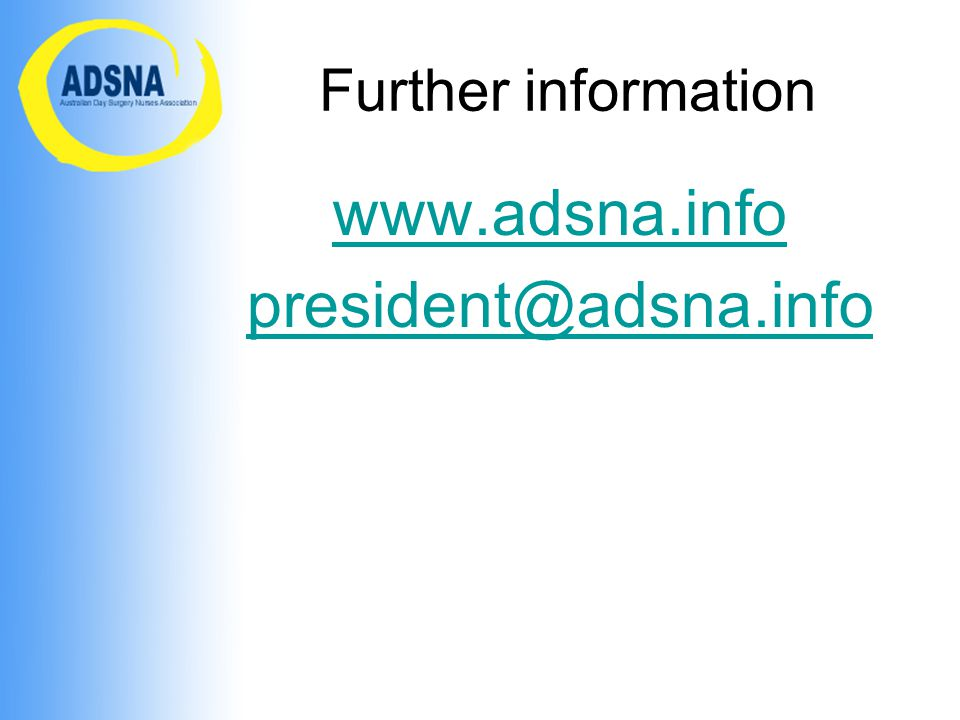 www.adsna.info president@adsna.info