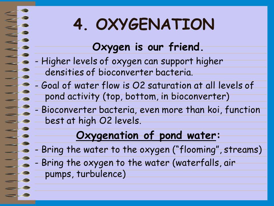 4.OXYGENATION Oxygen is our friend.