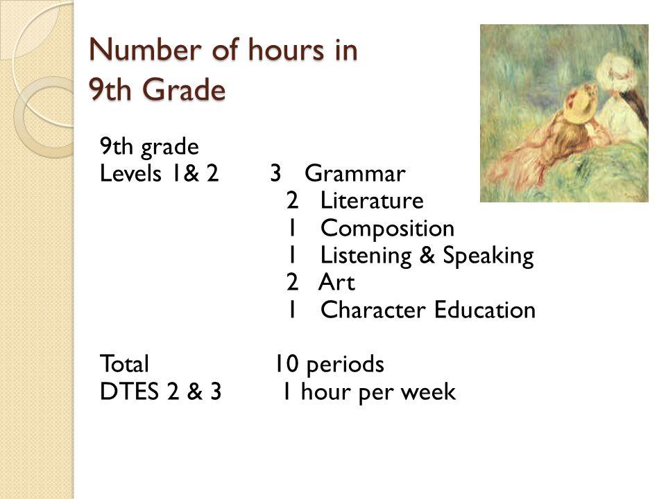 9th Grade Level 1 & 2