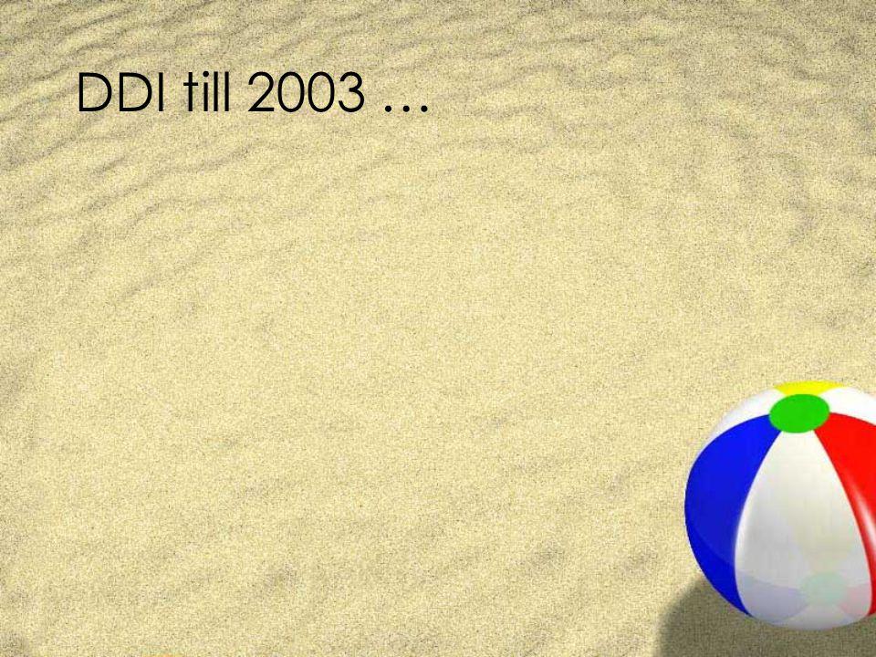 DDI till 2003 …