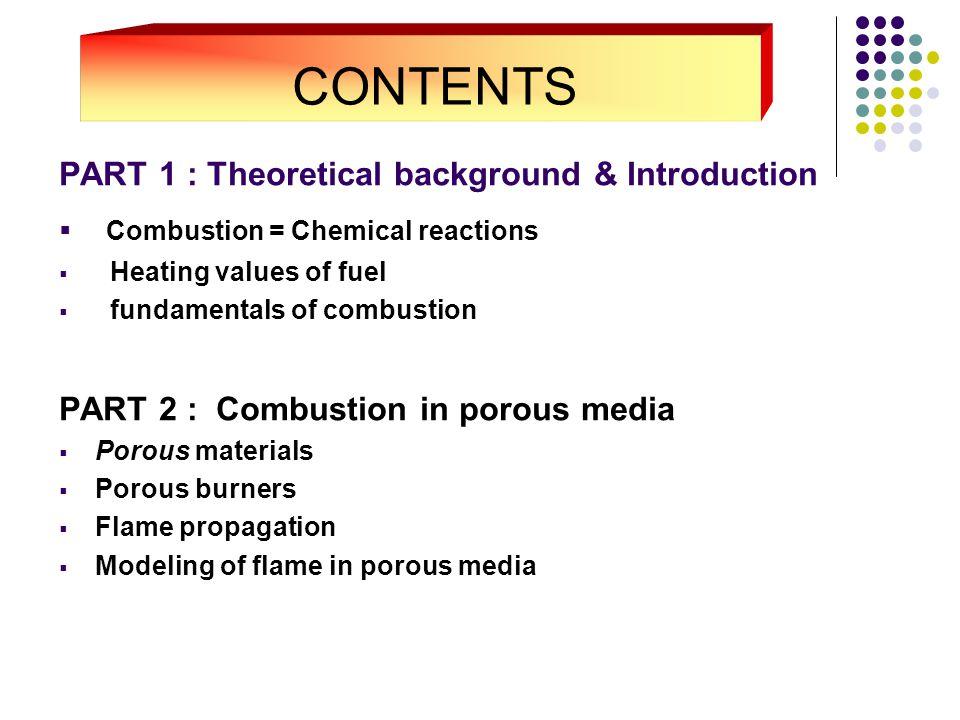 Terminology  Fuel  Flame  Porous Media