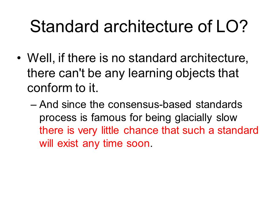 Standard architecture of LO.