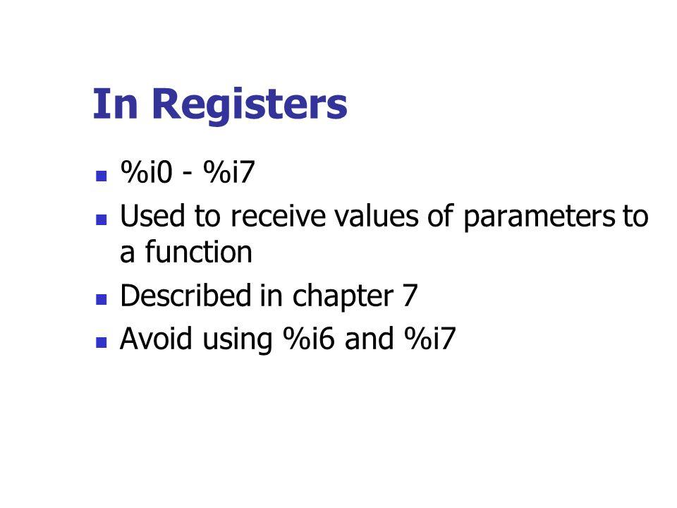 Example Marking a function.globalmain main:save%sp, -64, %sp