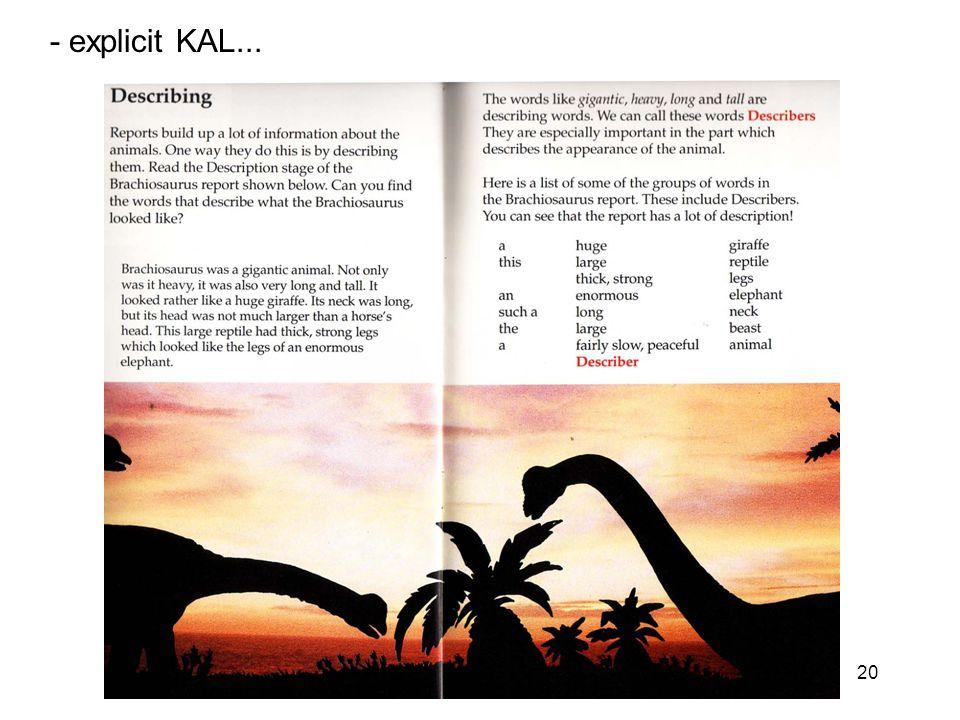 20 - explicit KAL...