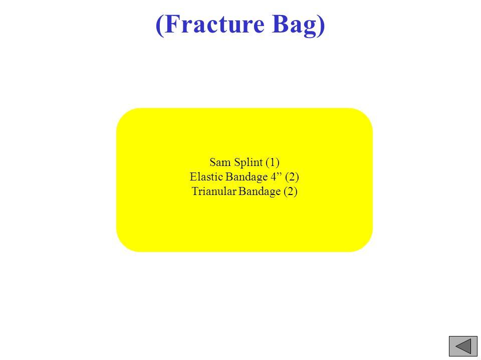 (Fracture Bag) Sam Splint (1) Elastic Bandage 4 (2) Trianular Bandage (2)