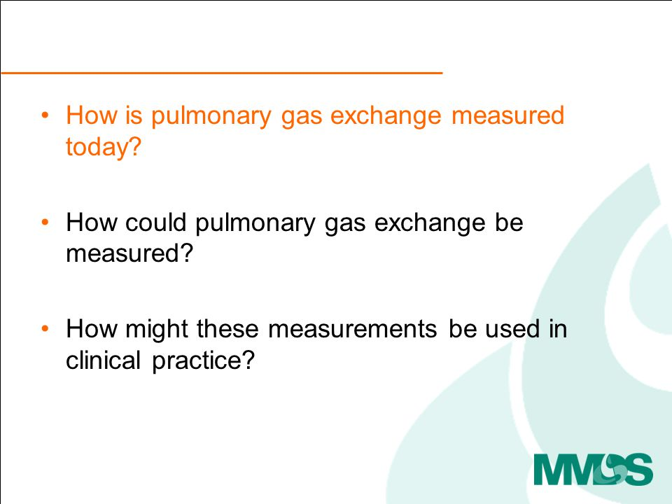 How is pulmonary gas exchange measured today. How could pulmonary gas exchange be measured.