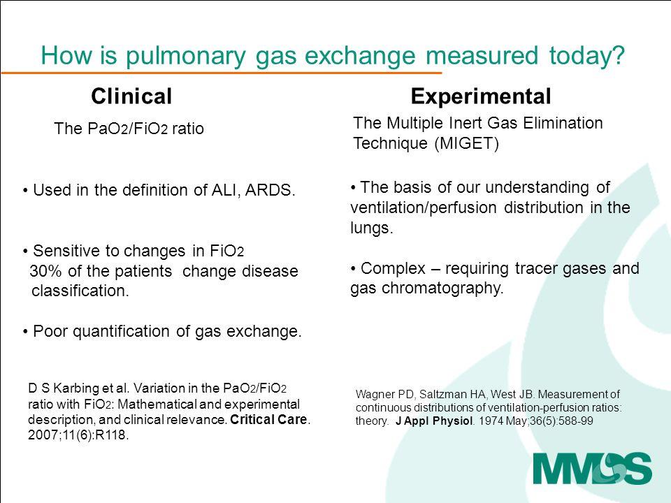 low V/Qhigh V/Q Oxygen responsive Not oxygen responsive Oxygen loss = P A O 2 - PcO 2
