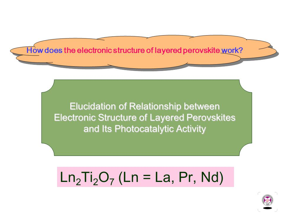 Ln 2 Ti 2 O 7 (Ln = La, Pr, Nd) How does the electronic structure of layered perovskite work.
