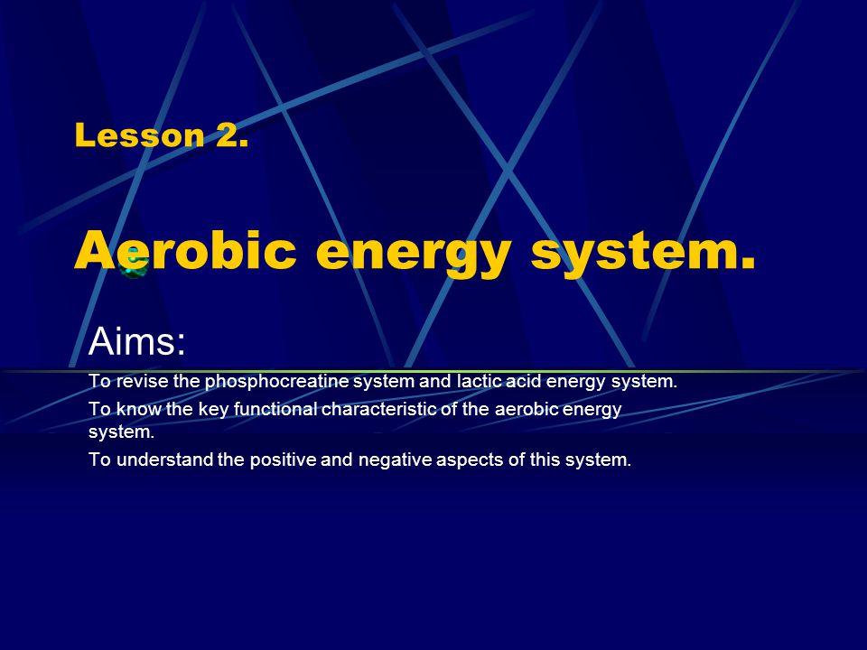 Lesson 2. Aerobic energy system.