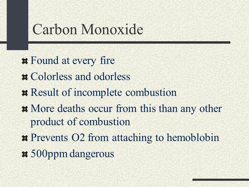 Carbon Monoxide – Care Symptoms Flu-like Need O2 immediately