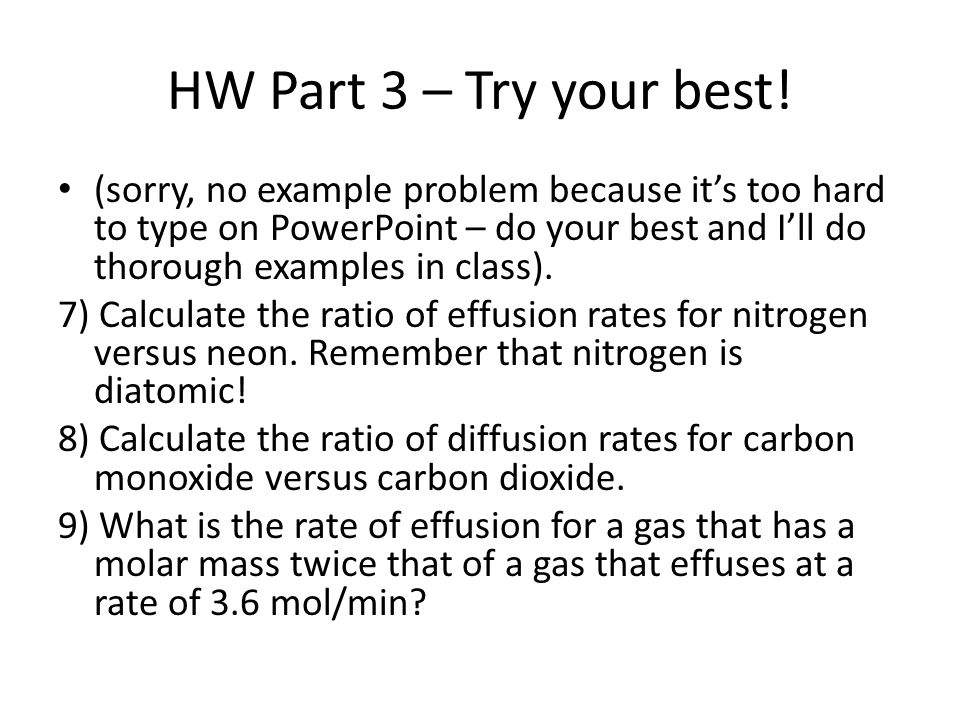 HW Part 3 – Try your best.