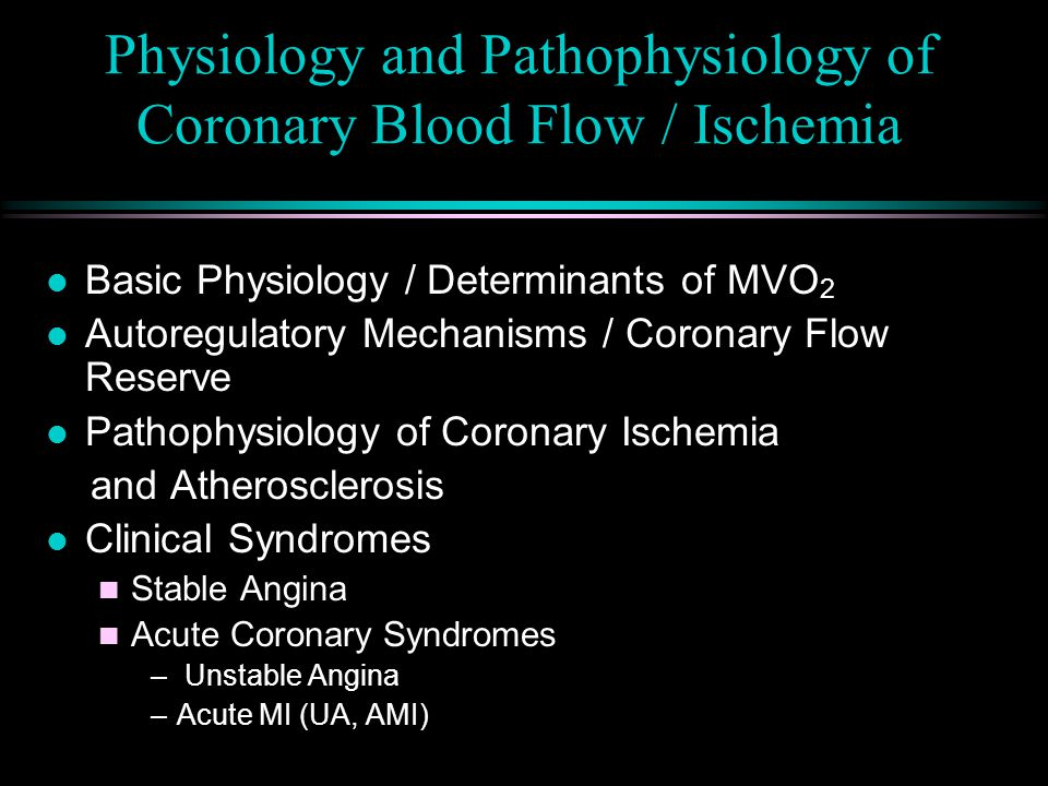 Acute Coronary Syndrome Terminology l Pathophysiology of all 3 is the same l Unstable Angina (UA) n ST depression, T Wave inversion or normal n No enzyme release l Non-Transmural Myocardial Infarction (NTMI or SEMI) n ST depression, T Wave inversion or normal n No Q waves n CPK, LDH + Troponin release l Transmural Myocardial Infarction (AMI) n ST elevation n + Q waves n CPK, LDH + Troponin release