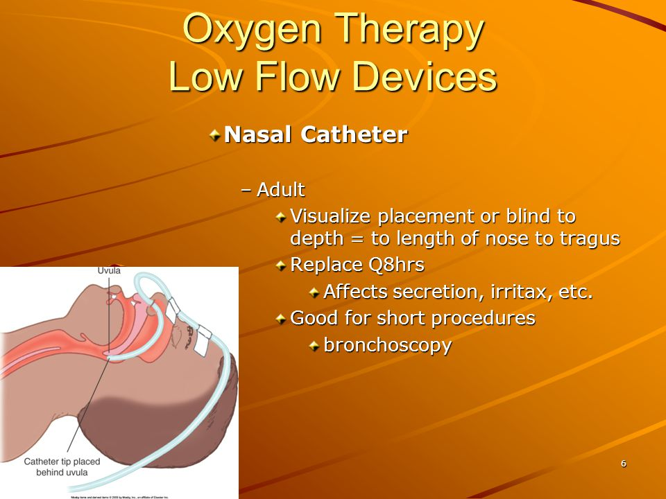 Oxygen Therapy Selecting Delivery Approach –Purpose (Objective) Increase FiO2 to correct hypoxemia minimize symptoms of hypoxemia –Patient Cause & severity of hypoxemia Age Neuro status/orientax Airway in place/protected Regular rate & rhythm 17