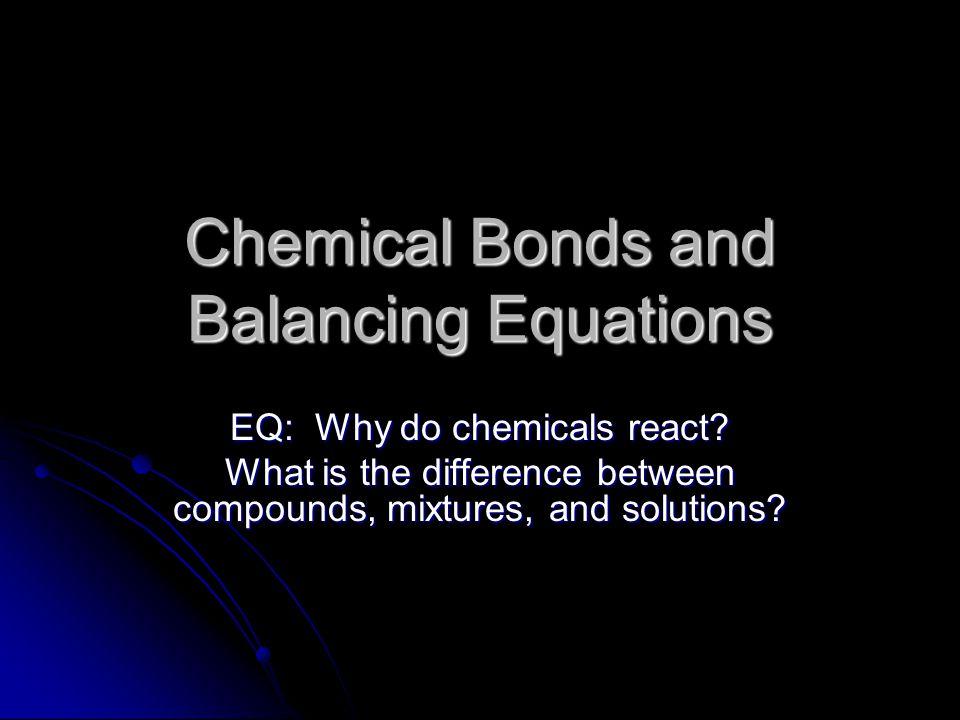 Now consider this formula CH 4 + O 2 ----------------> CO 2 + H 2 O CH 4 + O 2 ----------------> CO 2 + H 2 O ReactantsProducts ReactantsProducts CC CC HH HH OO OO