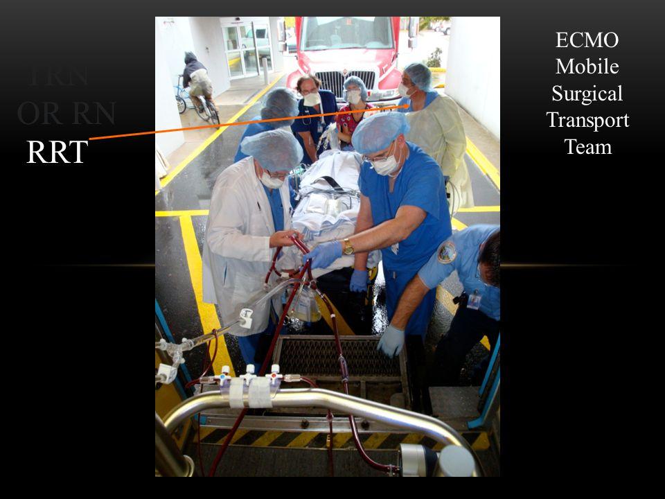 RRT TRN OR RN ECMO Mobile Surgical Transport Team