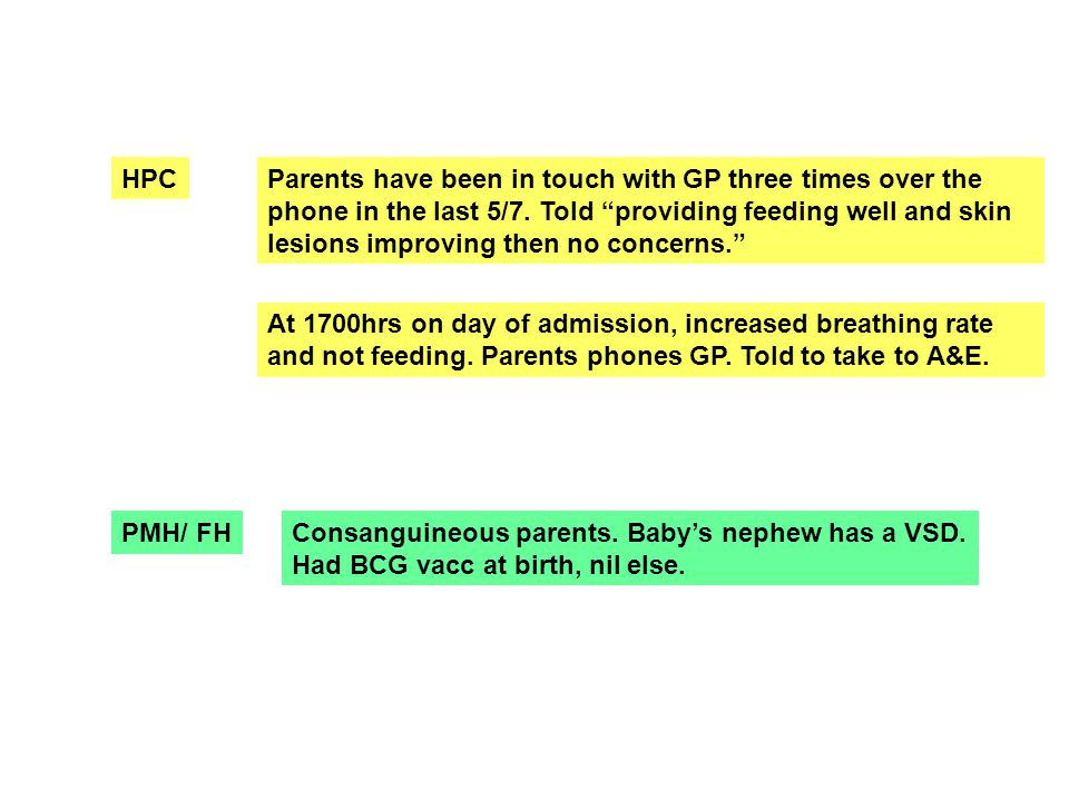 HPCParents have been in touch with GP three times over the phone in the last 5/7.