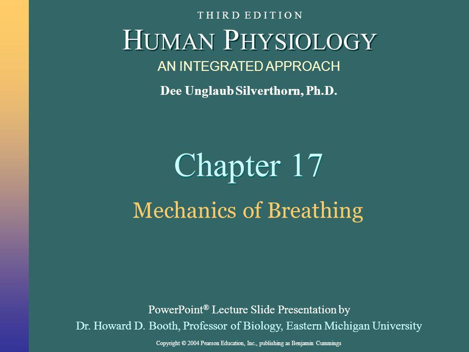 Copyright © 2004 Pearson Education, Inc., publishing as Benjamin Cummings Gas Exchange in the Alveoli Figure 17-2 h : Anatomy Summary