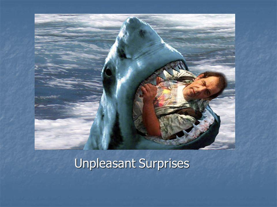 Danger Unpleasant Surprises Unpleasant Surprises