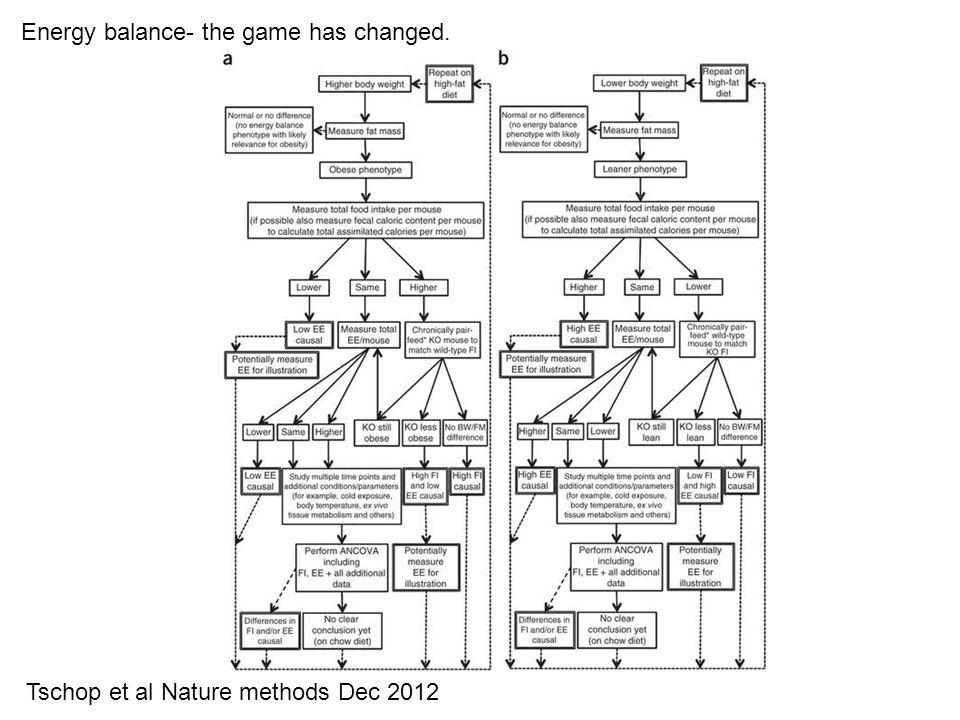 Energy balance- the game has changed. Tschop et al Nature methods Dec 2012