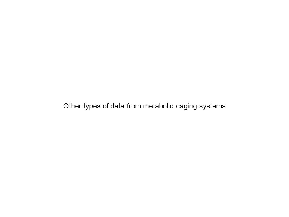 Other types of data from metabolic caging systems