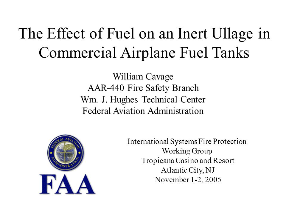 Fuel Effects on an Inert Ullage ____________________________________ AAR-440 Fire Safety R&D Outline Background Test Article Test Methods Calculations Results Summary
