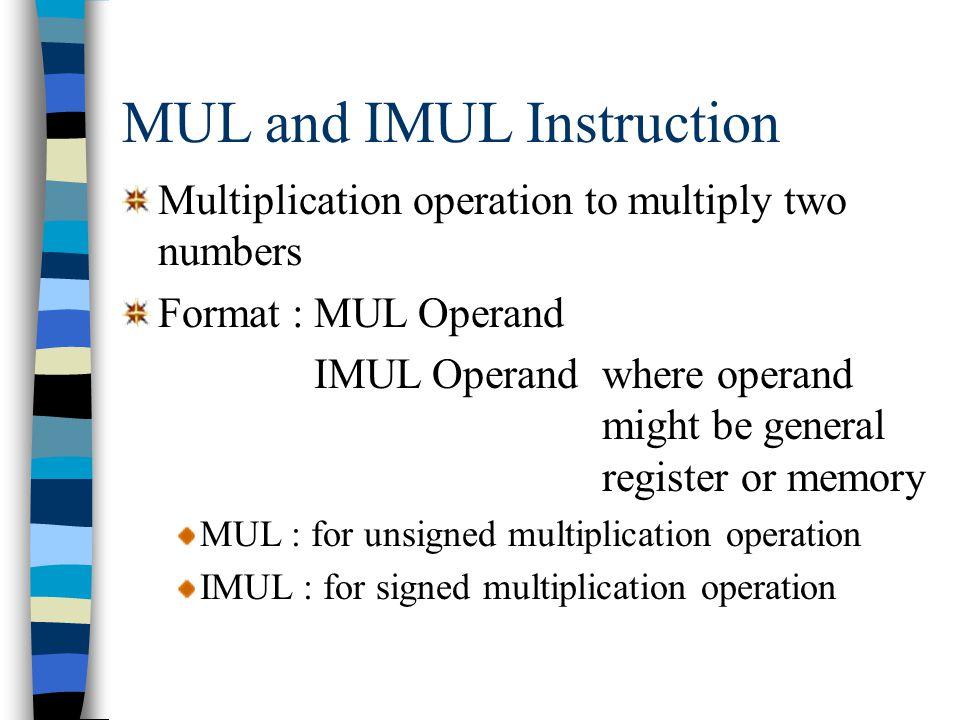 Instruction example mov al,10110011b xor al,11111111b ; AL = 01001100 XORing any bit with 0 leaves the bit unchanged: mov al,10110011b xor al,00000000b ; AL = 10110011
