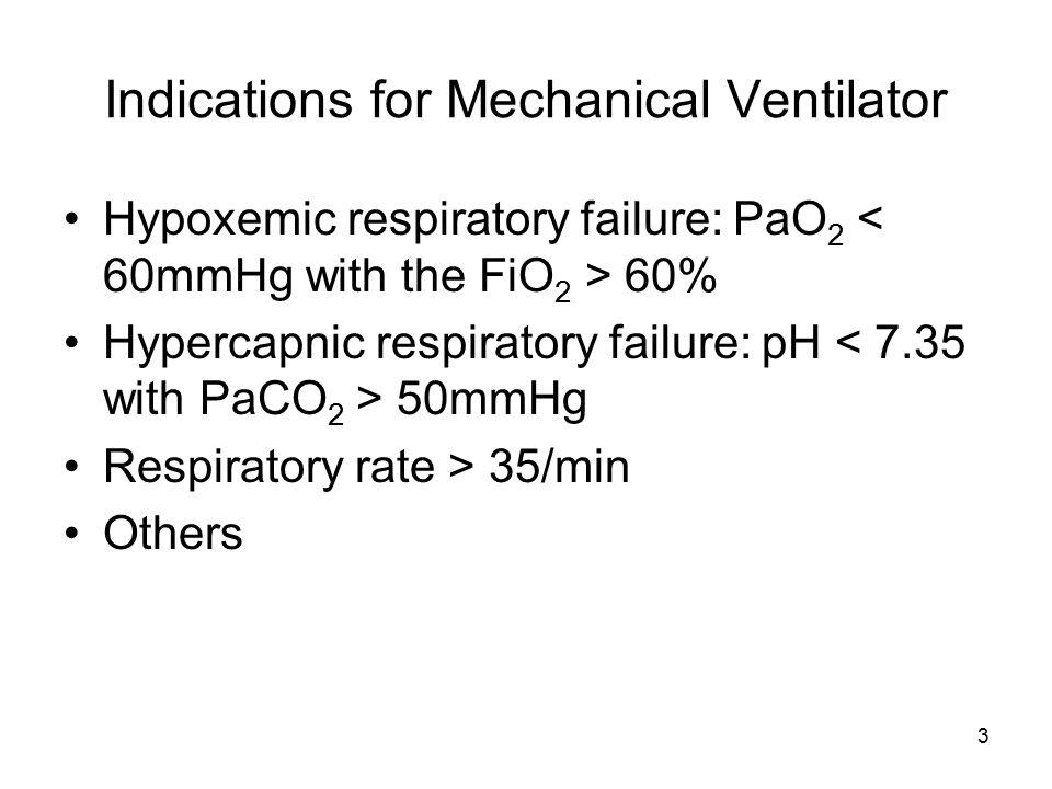 4 Types of Mechanical Ventilator Positive pressure vs. Negative pressure Invasive vs. Non-invasive