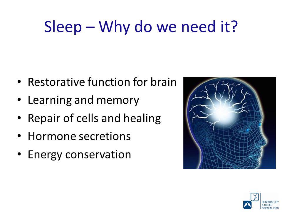 Sleep – Why do we need it.