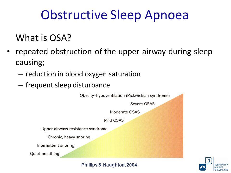 Obstructive Sleep Apnoea What is OSA.