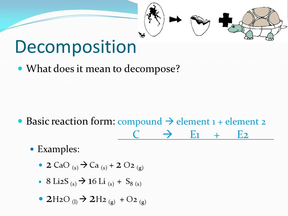 Decomposition What does it mean to decompose.