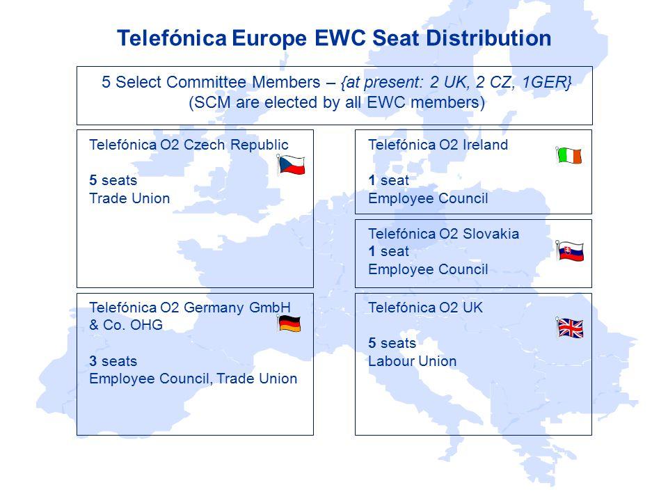 Steven Roberts (Telefónica O2 UK ) Telefónica EWC Chairman & Select Committee Chair Telefónica O2 Ireland Marc Poole Telefónica O2 Germany GmbH & Co.