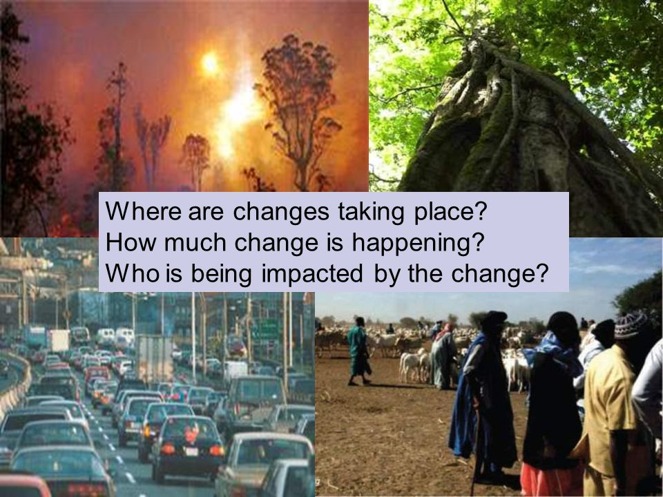 Global Change Where are changes taking place. How much change is happening.