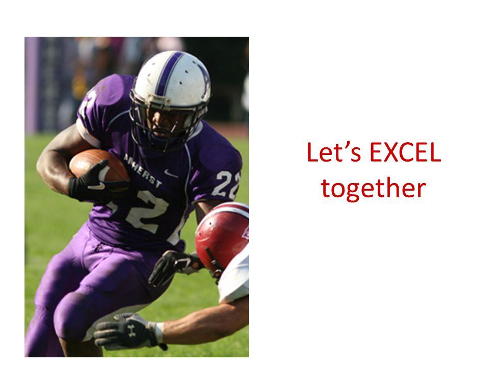 Let's EXCEL together