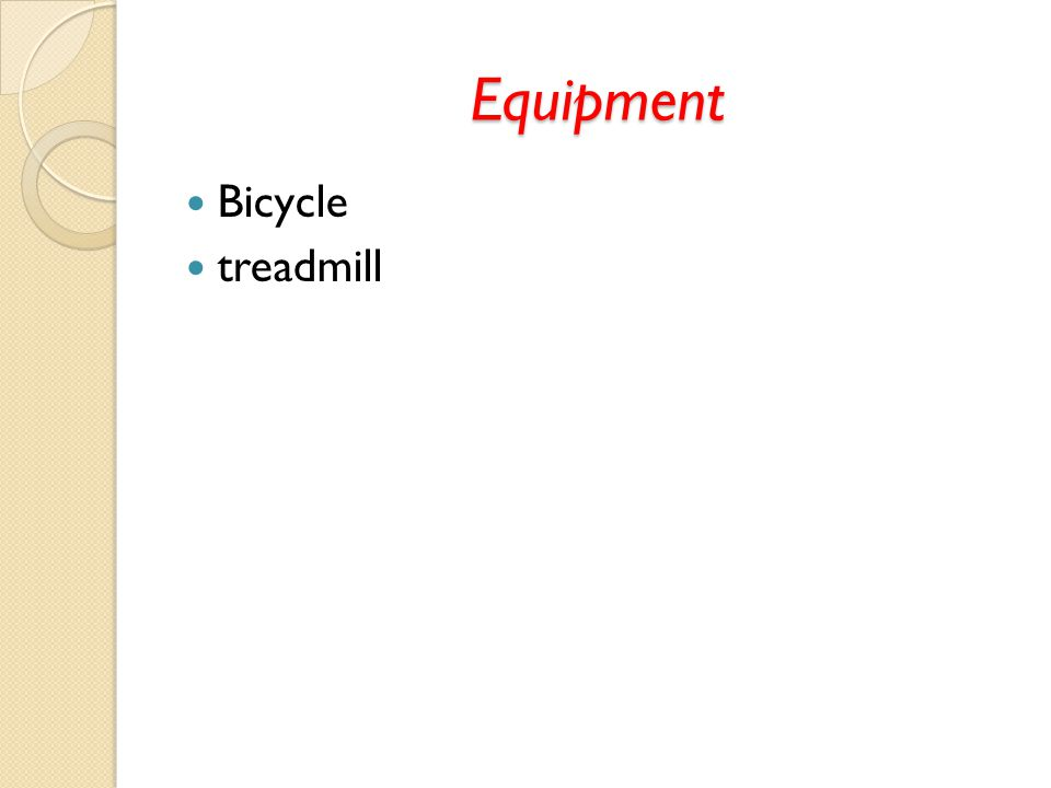 Equipment Bicycle treadmill