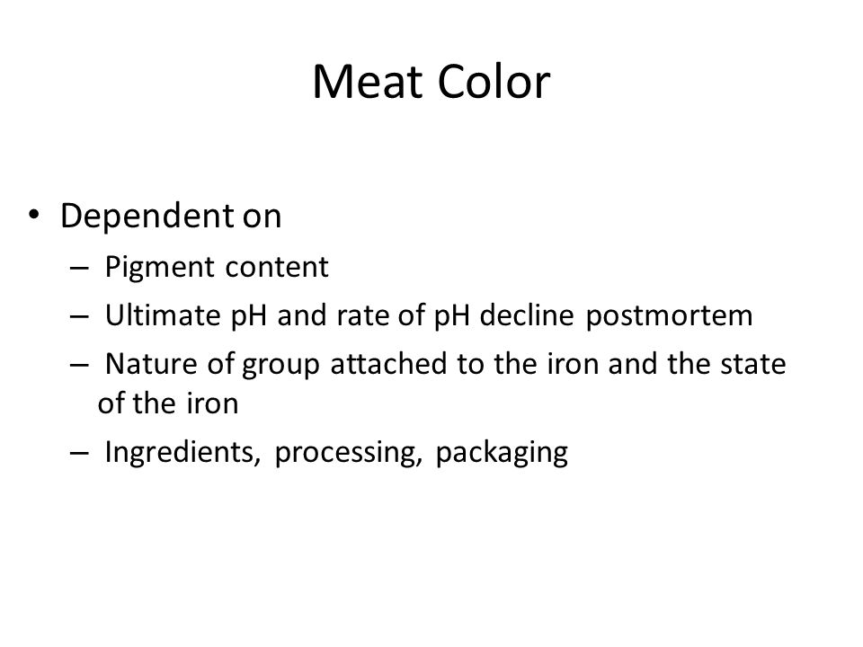 Factors Affecting Meat Color Packaging