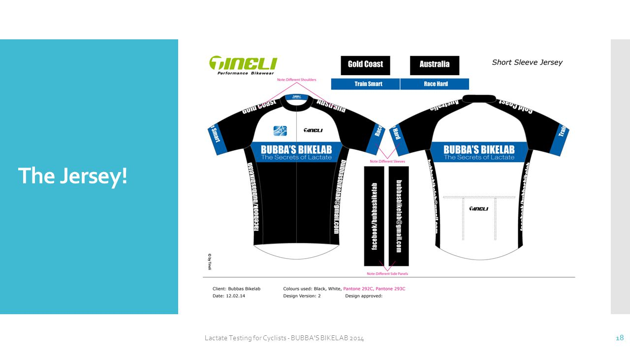 The Jersey! Lactate Testing for Cyclists - BUBBA S BIKELAB 2014 18
