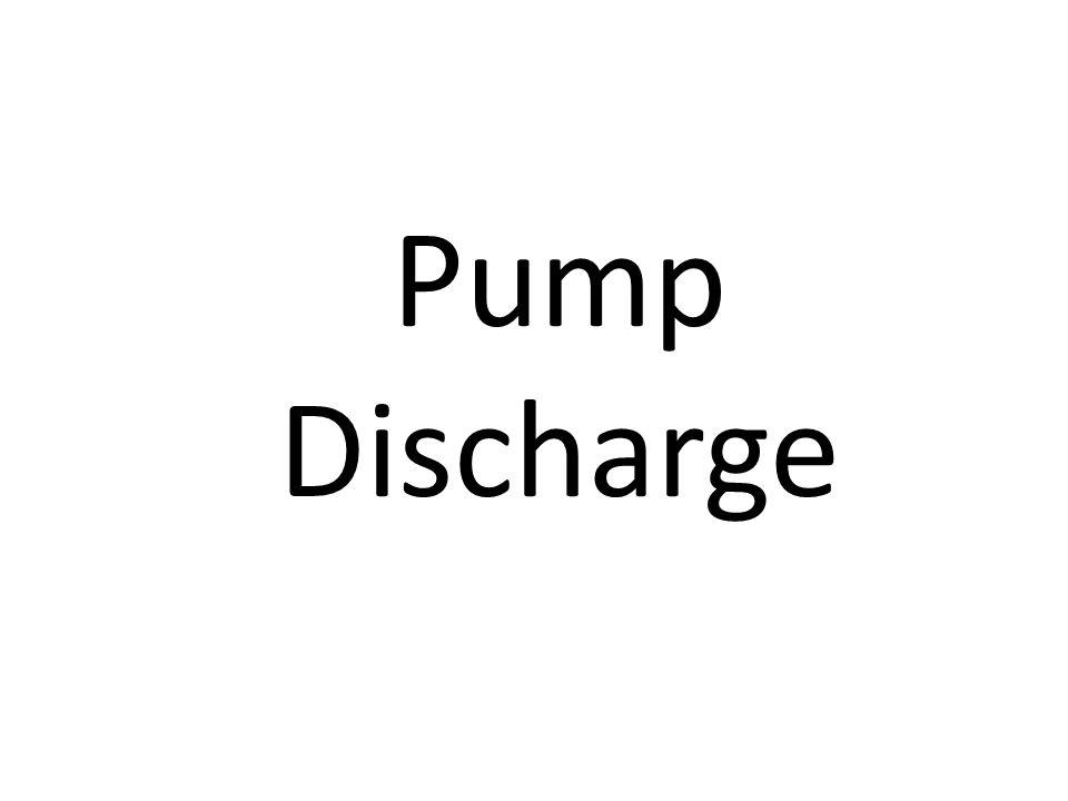 Pump Discharge