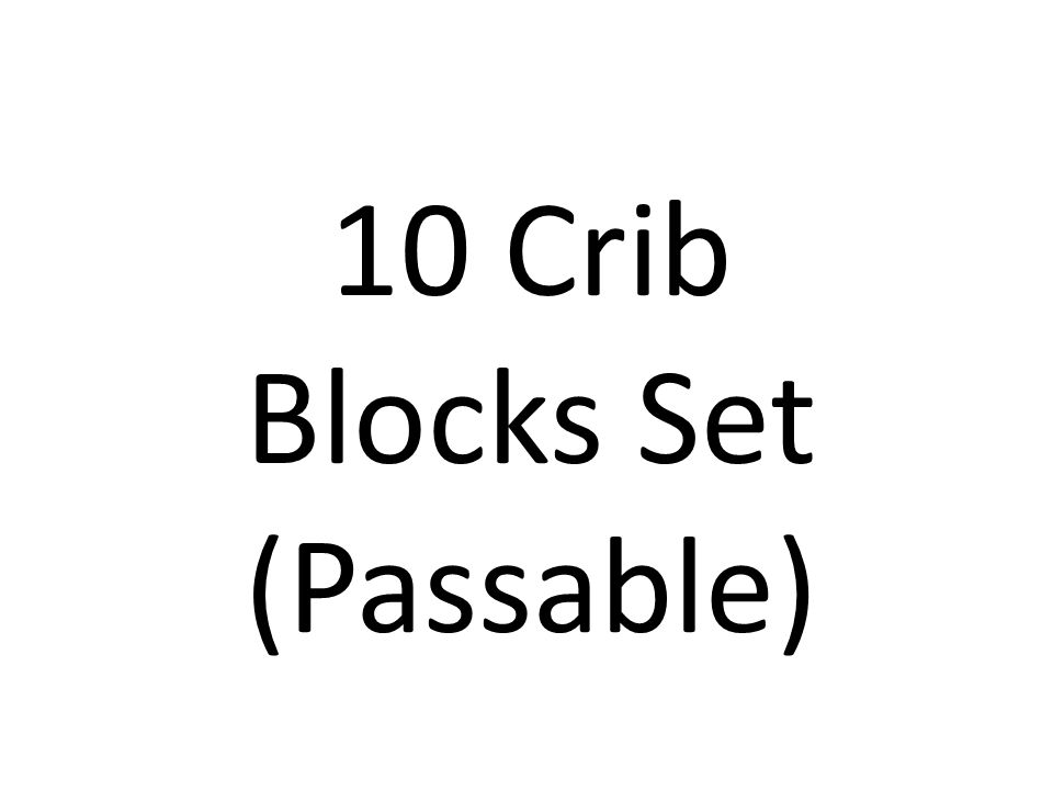 10 Crib Blocks Set (Passable)