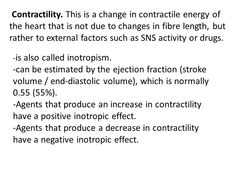 Determinants of Cardiac Output (CO) Preload Heart Rate Afterload Contractility Cardiac Output Stroke Volume