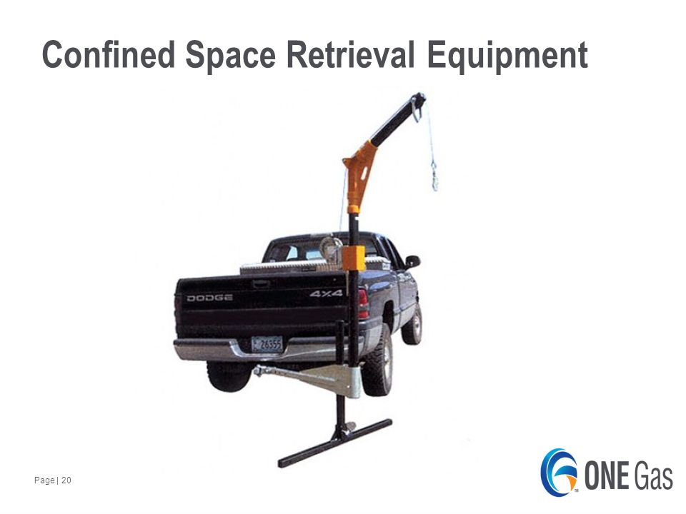 Page | 20 Confined Space Retrieval Equipment