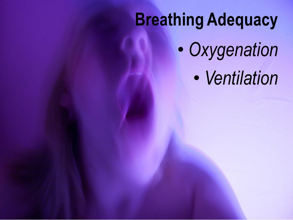 Breathing Adequacy Oxygenation Ventilation
