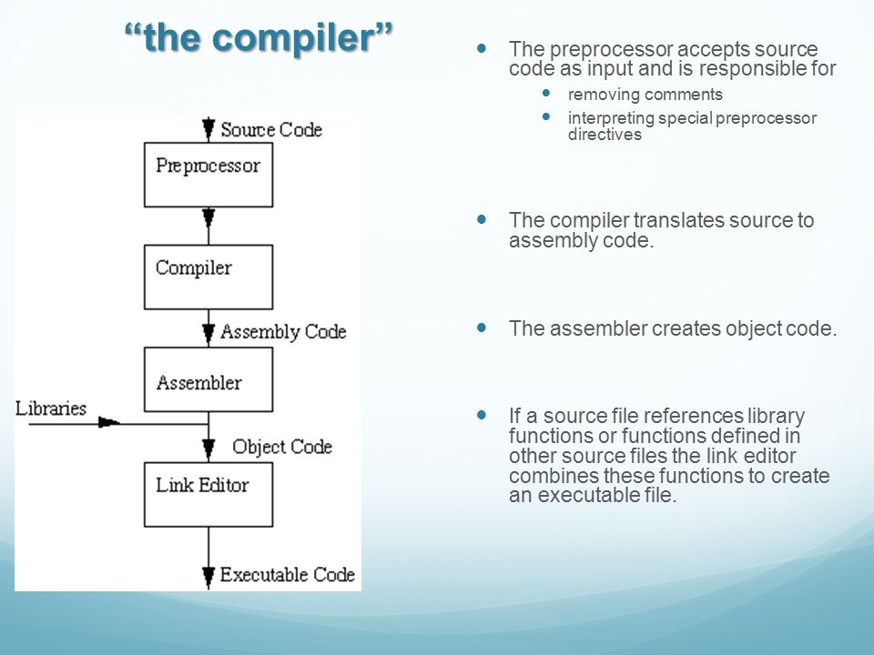 Typical example # the variable CC will be the compiler to use.