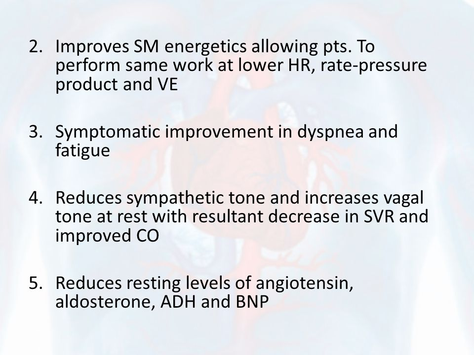 2.Improves SM energetics allowing pts.