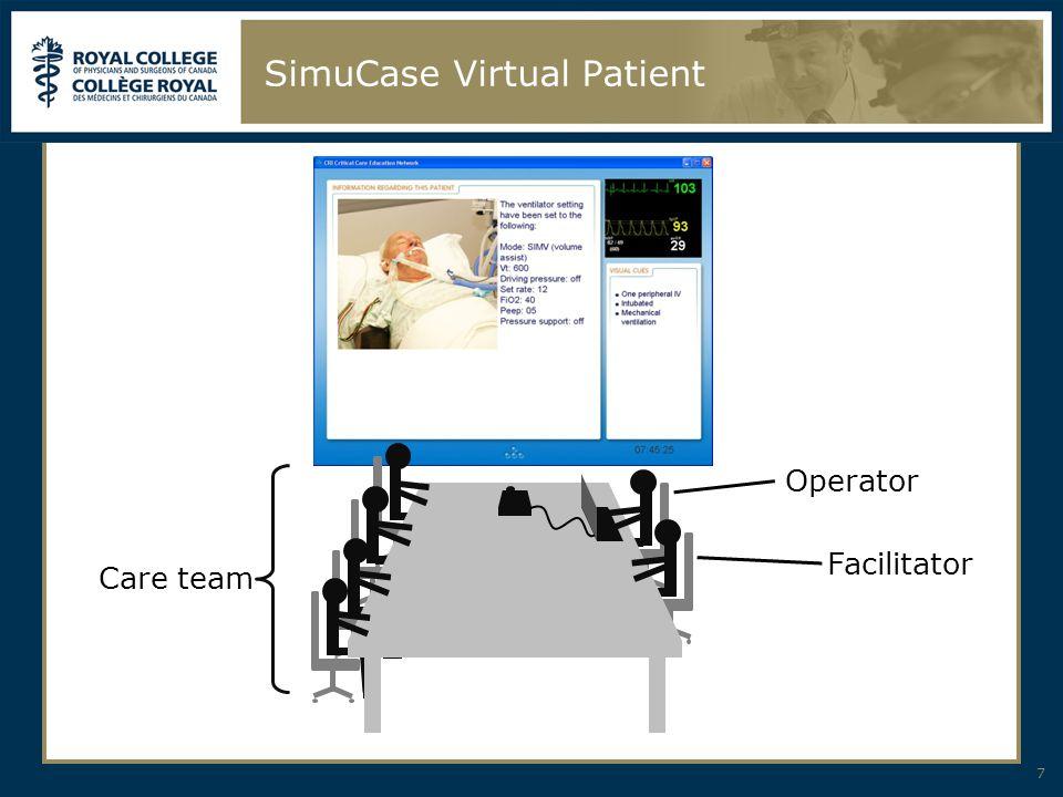 SimuCase Virtual Patient 7 Care team Operator Facilitator