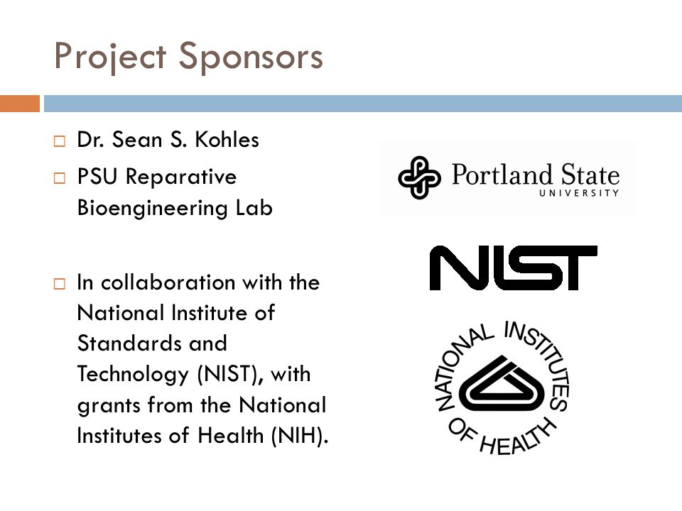 Project Sponsors  Dr.Sean S.