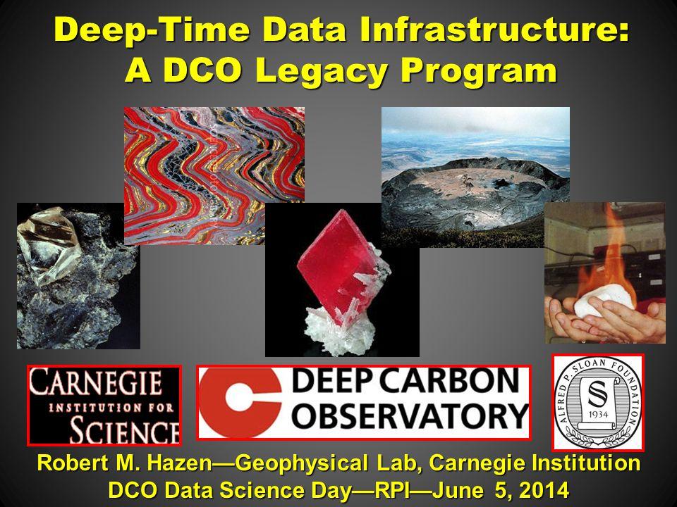 Deep-Time Data Infrastructure: A DCO Legacy Program Robert M.