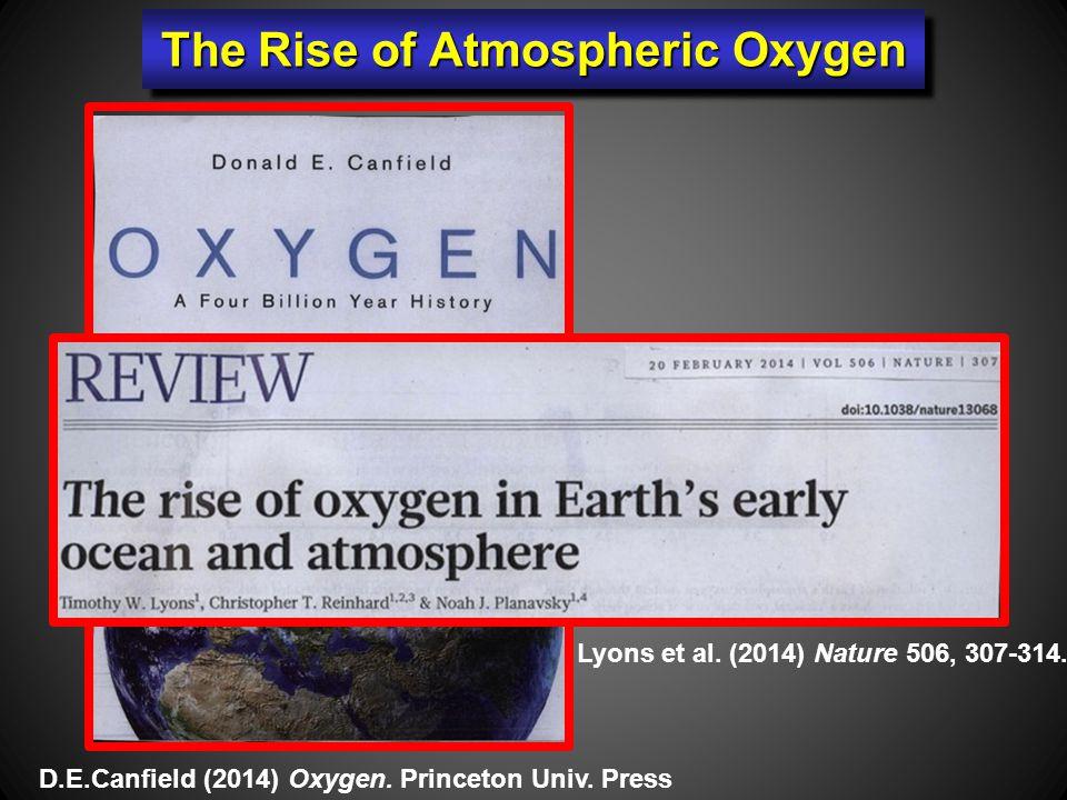 The Rise of Atmospheric Oxygen Lyons et al. (2014) Nature 506, 307-314.